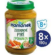 HAMÁNEK Zeleninové pyré s pohankou 8× 190 g - Příkrm