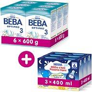 BEBA OPTIPRO 3 (6× 600 g) + 3× Nestlé Mlíčko s kaší Vanilka 400 ml