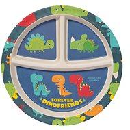 ZOPA Bambusový dělený talířek s přísavkou Dino