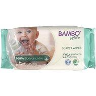 BAMBO NATURE Biodegradabilní vlhčené ubrousky 50 ks - Dětské vlhčené ubrousky