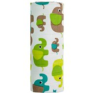 T-tomi BIO Bambusová osuška green elephants - Dětská osuška