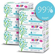 Dětské vlhčené ubrousky HiPP Babysanft Aqua Natural 6× (2× 60 ks)