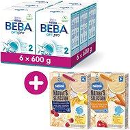 BEBA OPTIPRO 2 (6× 600 g) + Néstlé Nature's Selection 2× Mléčná obilná kaše 250 g - Kojenecké mléko