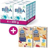 BEBA OPTIPRO 4 (6× 600 g) + Néstlé Nature's Selection 2× Mléčná obilná kaše 250 g - Kojenecké mléko