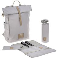 Funny Green Label Rolltop Backpack gray