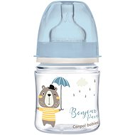 Canpol babies BONJOUR PARIS 120 ml modrá - Kojenecká láhev