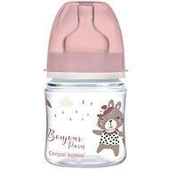 Canpol babies BONJOUR PARIS 120 ml růžová - Kojenecká láhev
