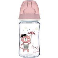 Canpol babies BONJOUR PARIS 240 ml růžová - Kojenecká láhev
