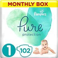 PAMPERS Pure Protection vel. 1 (102 ks) - Dětské pleny