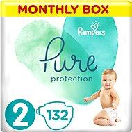 PAMPERS Pure Protection vel. 2 (132 ks) - Dětské pleny