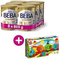 BEBA COMFORT 2 HM-O (8× 800 g) + Lego Duplo Vláček s čísly - Kojenecké mléko