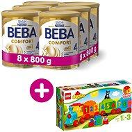BEBA COMFORT 4 HM-O (8× 800 g) + Lego Duplo Vláček s čísly - Kojenecké mléko