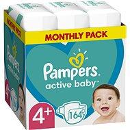 PAMPERS Active Baby vel. 4+, Monthly Pack 164 ks - Dětské pleny