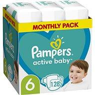 PAMPERS Active Baby vel. 6, Monthly Pack 128 ks - Dětské pleny