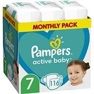 PAMPERS Active Baby vel. 7, Monthly Pack 116 ks - Dětské pleny