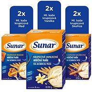Sunar Mix mléčná kaše na dobrou noc L 6× 225 g - Mléčná kaše