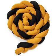 Eseco Pletený mantinel 180 cm, black - mustard