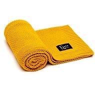 Eseco pletená deka - mustard - Deka do kočárku