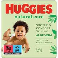 HUGGIES Natural Triplo (3× 56 ks) - Dětské vlhčené ubrousky