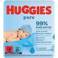 HUGGIES Pure Triplo (3× 56 ks) - Dětské vlhčené ubrousky