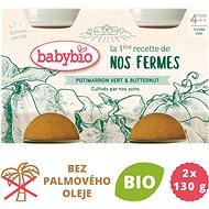 BABYBIO Zelená a máslová dýně z naší vlastní ekofarmy  2× 130 g - Příkrm