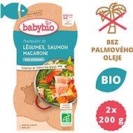 BABYBIO Jarní zelenina s lososem a makarony 2× 200 g
