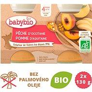 BABYBIO Broskev jablko 2× 130 g