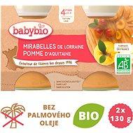 BABYBIO Mirabelky jablko 2× 130 g