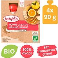 BABYBIO Jablko pomeranč banán 4× 90 g