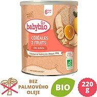 BABYBIO Ovocná kaše banán pomeranč jablko 220 g - Nemléčná kaše