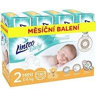 LINTEO Baby Prémium MINI (3–6 kg) 136 ks  - Dětské pleny