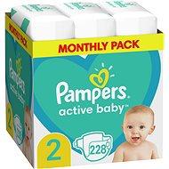 PAMPERS Active Baby vel. 2 (228 ks) 4–8 kg - Dětské pleny