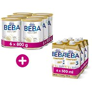 BEBA COMFORT 3 HM-O 6× 800 g + BEBA COMFORT Liquid 3 HM-O 6× 500 ml - Kojenecké mléko