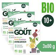 Good Gout BIO Sušenky barvy & tvary (3× 80 g) - Sušenky pro děti