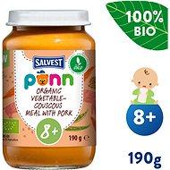SALVEST Ponn BIO Vepřové maso s kuskusem a zeleninou (190 g) - Příkrm
