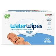 Dětské vlhčené ubrousky Waterwipes 100% BIO odbouratené ubrousky 12× 60 ks