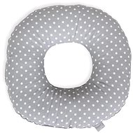 CEBA poporodní kruh Tečky bílo-šedé - Polštář