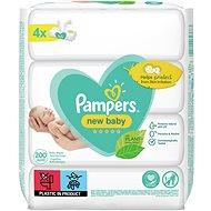 PAMPERS New Baby 4× 50 ks - Dětské vlhčené ubrousky