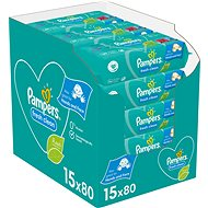 Dětské vlhčené ubrousky PAMPERS Fresh Clean Baby 15× 80 ks