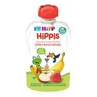 HiPP BIO 100% ovoce Jablko-Banán-Jahoda od uk. 4. měsíce, 6 × 100 g - Příkrm
