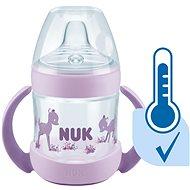 NUK lahvička na učení  Nature Sense s kontrolou teploty 150 ml fialová