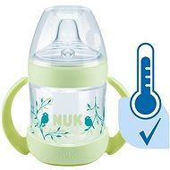 NUK lahvička na učení  Nature Sense s kontrolou teploty 150 ml zelená