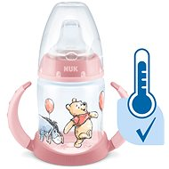 NUK  lahvička na učení  DISNEY-Medvídek Pú s kontrolou teploty 150 ml růžová