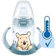 NUK  lahvička na učení  DISNEY-Medvídek Pú s kontrolou teploty 150 ml modrá