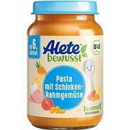 ALETE BIO zelenina s těstovinami a vepřovou šunkou z kýty a plece 190 g - Příkrm