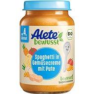 ALETE BIO špagety se zeleninovou omáčkou a krůtím masem 190 g - Příkrm