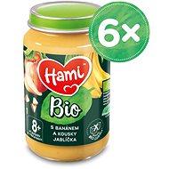 Hami BIO S banánem a kousky jablíčka 6× 190 g