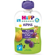 HiPP BIO 100% ovoce Hruška-Černý rybíz-Švestka 6× 100 g - Příkrm