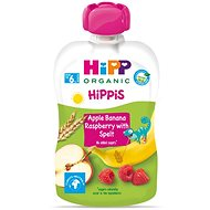 HiPP BIO Hippies Jablko-Banán-Maliny-Celozrnné obiloviny 6× 100 g - Příkrm