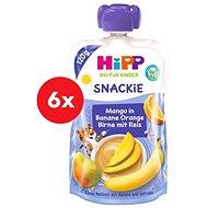 HiPP BIO Snackie Hruška-Pomeranč-Mango-Banán-Rýže 6× 120 g - Příkrm